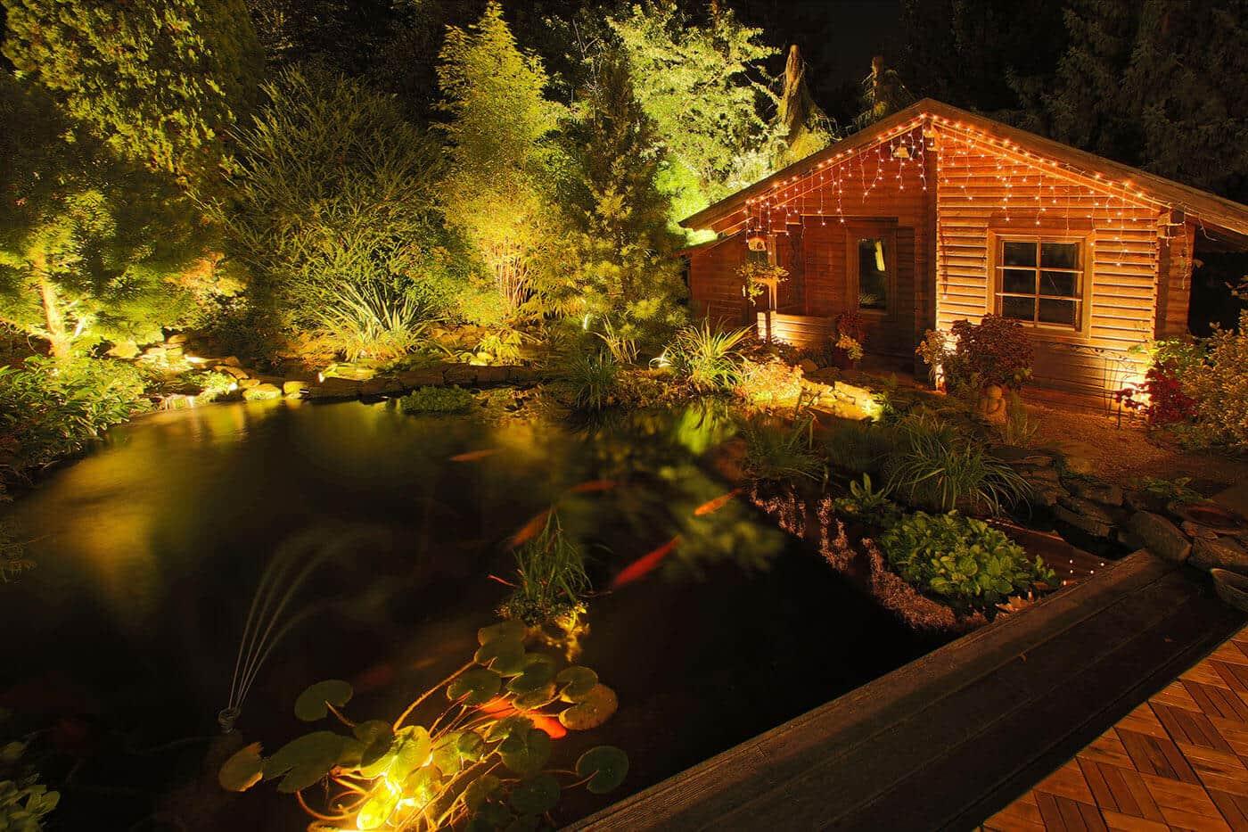 Gartenbeleuchtung und au enbeleuchtung licht von klein - Indirekte gartenbeleuchtung ...
